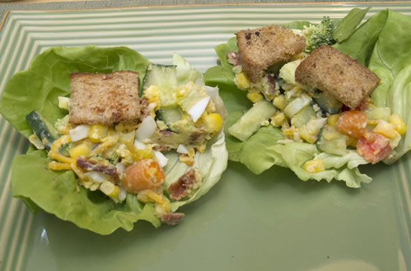 3 Bite Rule: Cobb Salad Lettuce Wraps