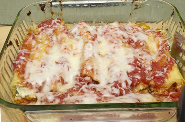 The Three Bite Rule manicotti