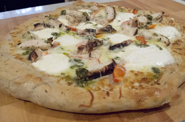 The Three Bite Rule - Pesto & Ricotta Pizza