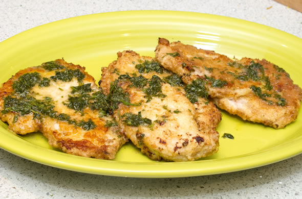 The Three Bite Rule - Chicken Francaise