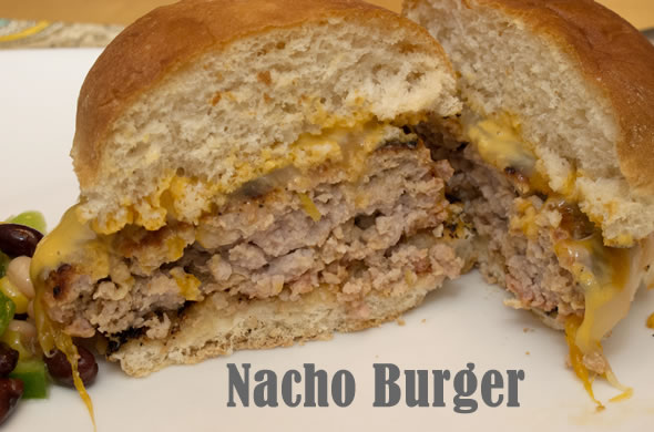 The Three Bite Rule - Nacho Burger
