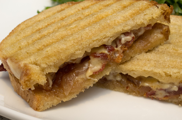 The Three Bite Rule - Bacon & Peach Compote Panini