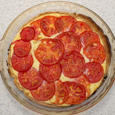 Three Bite Rule - Tomato Ricotta Pie