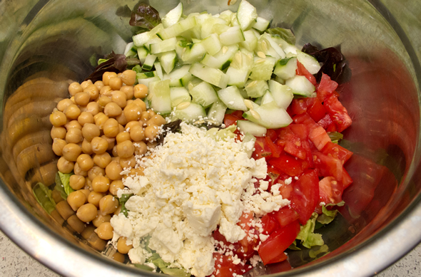 The Three Bite Rule - Chopped Greek Salad