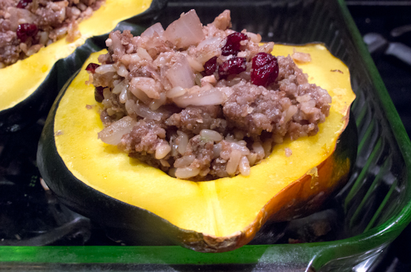 The Three Bite Rule - Stuffed Acorn Squash