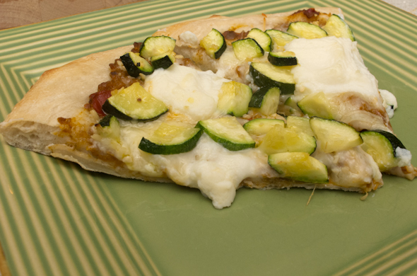 The Three Bite Rule - Eggplant & Zucchini Pizza