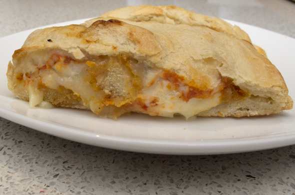 The Three Bite Rule - Chicken Parm Calzone