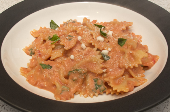 The Three Bite Rule - Creamy Tomato Basil Pasta