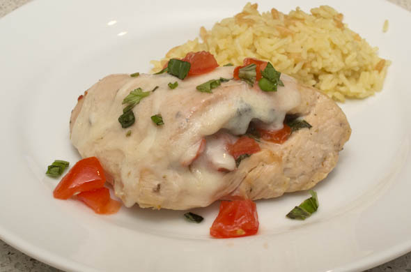 The Three Bite Rule - Caprese Chicken
