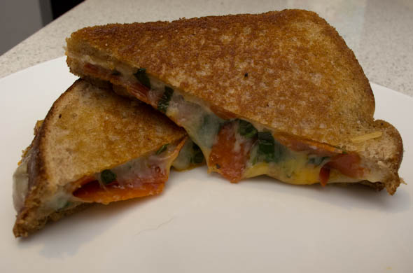 The Three Bite Rule - Pizza Grilled Cheese