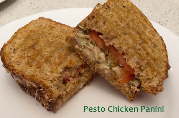 The Three Bite Rule - Pesto Chicken Panini