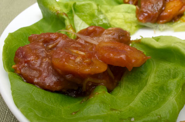 The Three Bite Rule - Pork Lettuce Wraps
