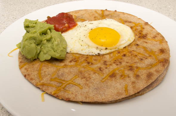 The Three Bite Rule - Quesadilla Huevos Rancheros
