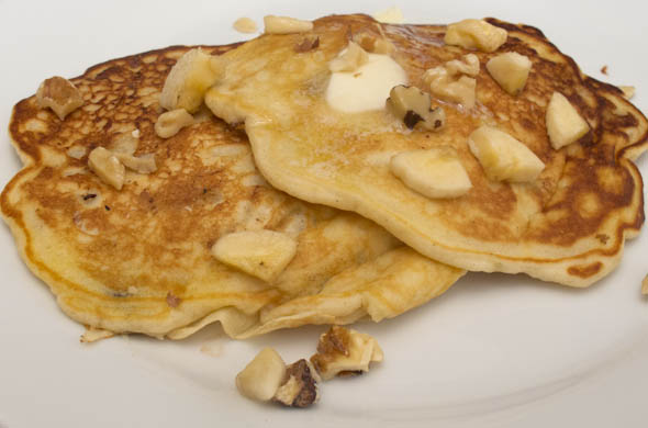 The Three Bite Rule - Chunky Monkey Pancakes