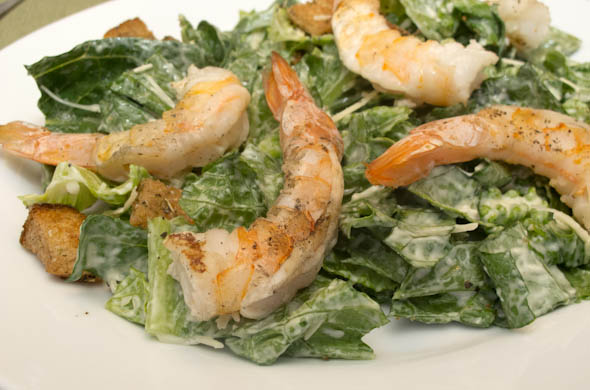 The Three Bite Rule - Caesar Salad with Grilled Shrimp