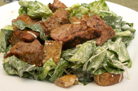 The Three Bite Rule - Caesar Salad with Grilled Steak