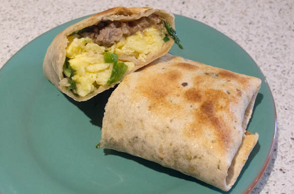 The Three Bite Rule - Frozen Breakfast Burrito