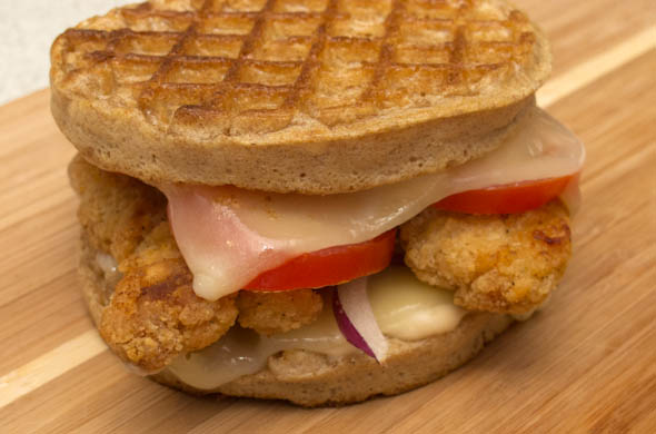 The Three Bite Rule - Chicken and Waffles Panini