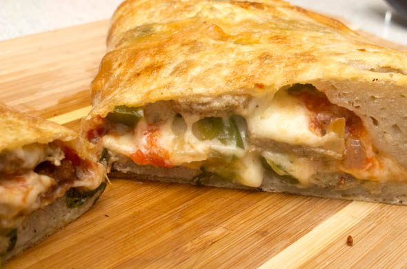 The Three Bite Rule - Meatball Calzone