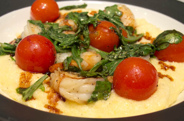 The Three Bite Rule - Polenta & Shrimp