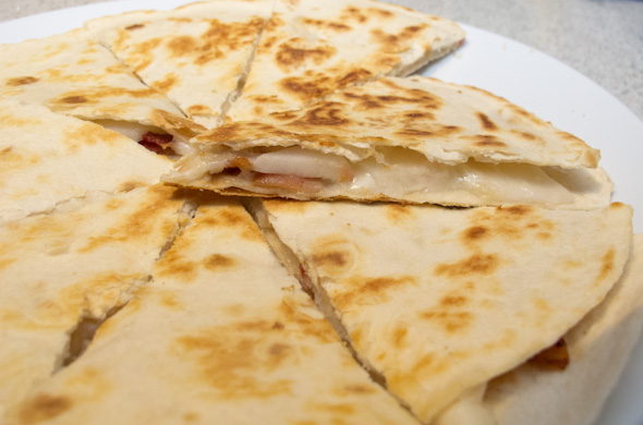 The Three Bite Rule - Apple, Bacon & Manchego Quesadilla