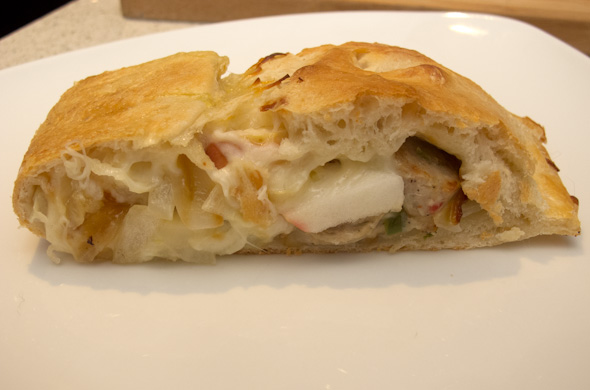 The Three Bite Rule - Sausage, Apple, & Onion Calzone