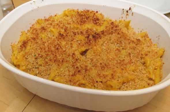 The Three Bite Rule - Pumpkin Mac & Cheese