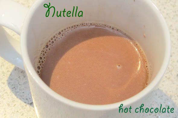 The Three Bite Rule - Nutella Hot Chocolate