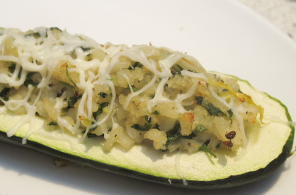 The Three Bite Rule - Zucchini Boats