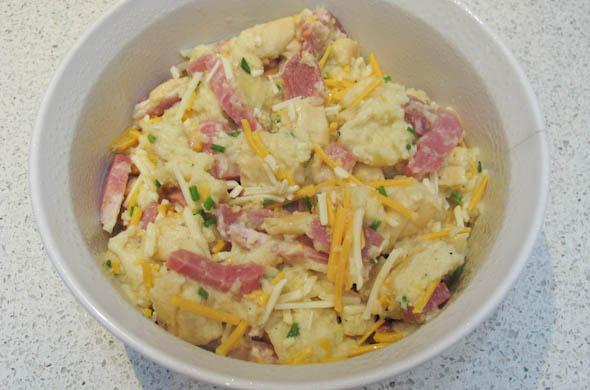 The Three Bite Rule - Breakfast Bake with Ham, Eggs, and Cheese