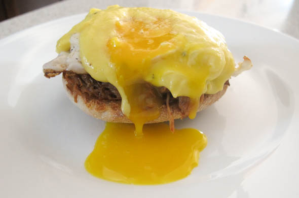 The Three Bite Rule - Pulled Pork Eggs Benedict