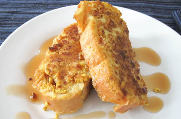 The Three Bite Rule - Cereal Crusted French Toast
