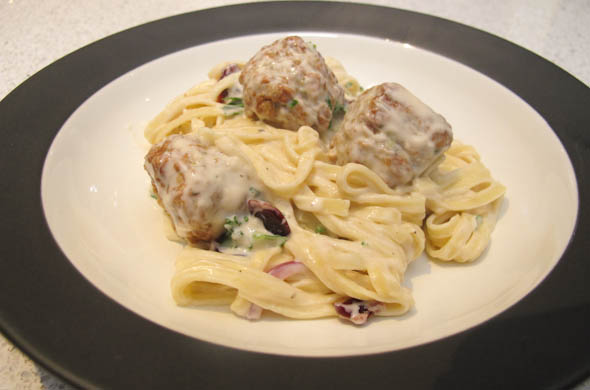 The Three Bite Rule - Chicken Alfredo Meatballs
