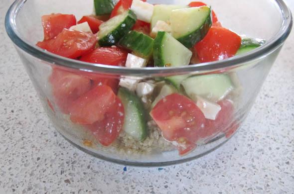 The Three Bite Rule - Greek Quinoa Bowls