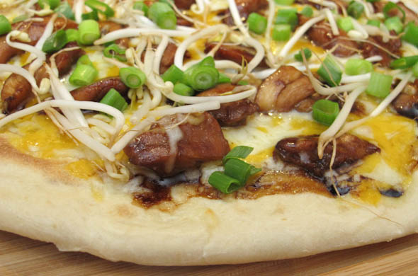 The Three Bite Rule - Teriyaki Chicken Wing Pizza