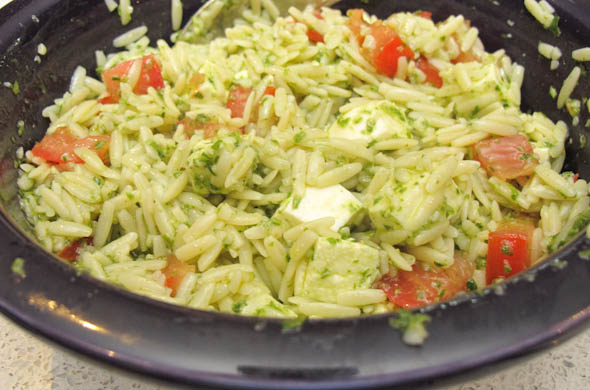 The Three Bite Rule - Basil Vinaigrette Dressing for Orzo Salad