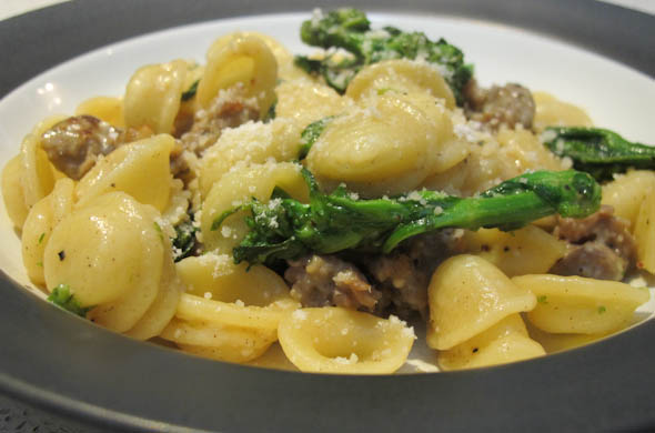 The Three Bite Rule - Orecchiette, Broccoli Rabe & Sausage Pasta
