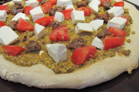Pistachio Pizza - The Three Bite Rule
