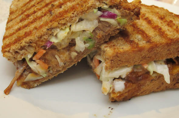 The Three Bite Rule - Pork Panini with Slaw