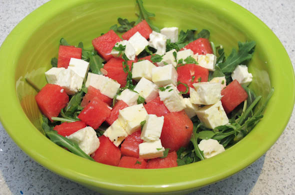 The Three Bite Rule - Watermelon & Feta Salad