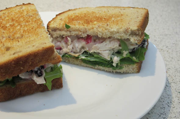The Three Bite Rule - Chicken Salad with Radish & Blueberries