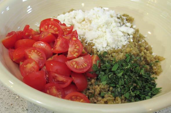 The Three Bite Rule - Greek Grain Salad