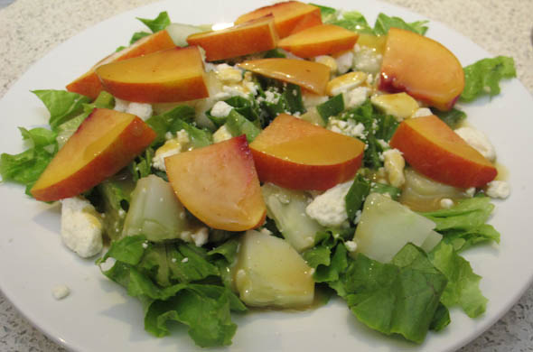 The Three Bite Rule - Nectarine Feta Salad