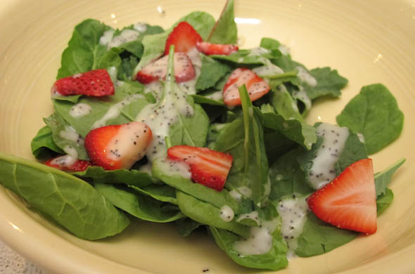 The Three Bite Rule - Strawberry & Spinach Salad with Poppy Seed Dressing