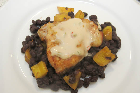 The Three Bite Rule - Queso Smothered Chicken