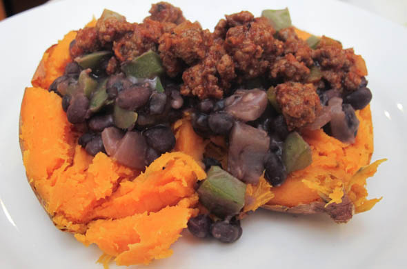 The Three Bite Rule - Sweet Potato Black Bean Tacos