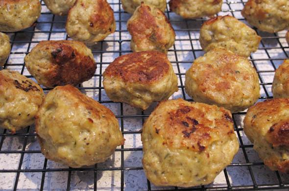 The Three Bite Rule - Chicken Parmesan Meatballs