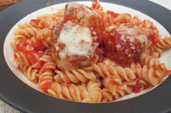 The Three Bite Rule - Chicken Parmesan Meatballs