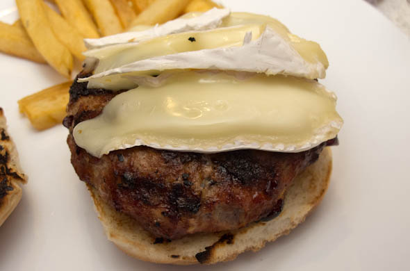 The Three Bite Rule - Burger with Brie & Cranberries