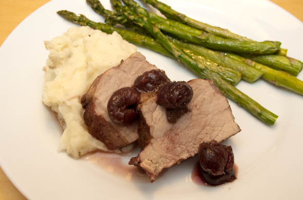 The Three Bite Rule - Pork Tenderloin with Balsamic & Cherries
